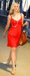 Model-red-dress